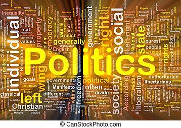 politik, social, bakgrund, begrepp, glödande