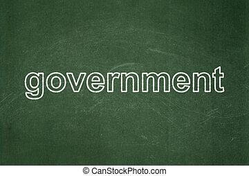 politika, concept:, kormány, képben látható, chalkboard, háttér