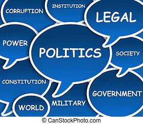 politika, felhő
