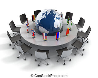 politika, globális, nemzetek, egyesült