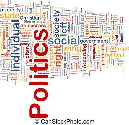 politika, pojem, grafické pozadí, společenský