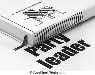 politikai, concept:, könyv, választás, fél, vezető, white, háttér
