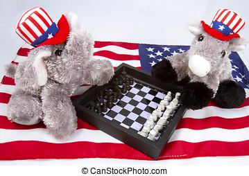 politikai, sakkjáték meccs