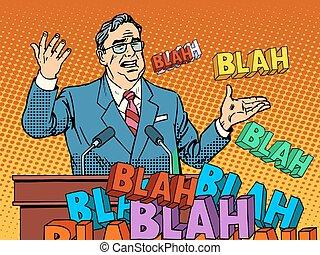 politiker, sprechen, an, der, kundgebung, ihm, gleichfalls,...