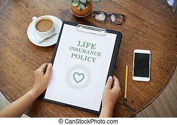 politique, assurance-vie, contrat
