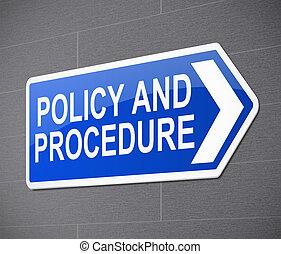 politique, concept., procédure