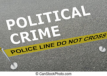 politique, crime, concept