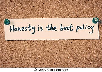 politique, honnêteté, mieux