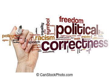politique, mot, concept, exactitude, nuage
