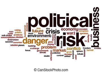 politique, mot, risque, nuage