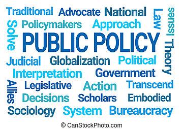 politique, nuage, public, mot
