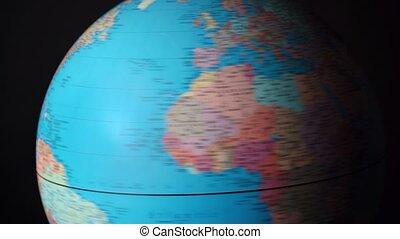 politique, pays, globe tournant, autour de