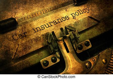politique, voiture, concept, grunge, assurance