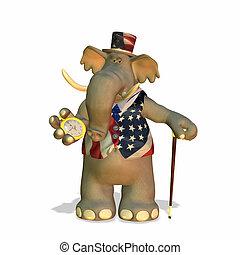 politisk, elefant