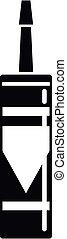 poliuretano, icono, silicona, espuma, estilo, simple