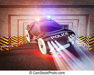 polizei- auto, von, zukunft