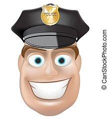polizei, vektor, mann