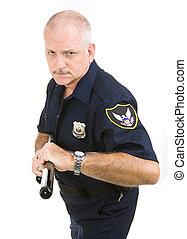 polizist, -, aggressiv