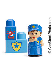 polizist, mutiges , lego