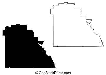 Polk County, Florida (U.S. county, United States of America, USA, U.S., US) map vector illustration, scribble sketch Polk map