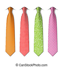 Polka and pin dots silk ties