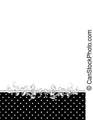 polka dot and leaf border - Black and white polka dot border...