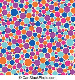 polka dot background - Seamless polka dot vector background...
