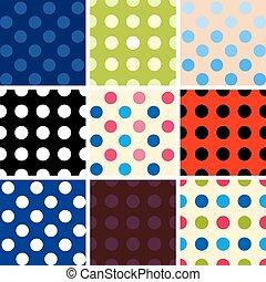 Polka dot background set