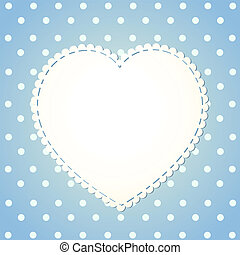 Polka dot background with textile label