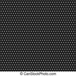 Polka dot dark seamless pattern. Vector abstract background with circle shapes, black and white color