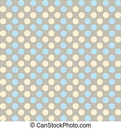 Polka dot fabric - Seamless pattern, polka dot fabric, ...