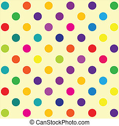 Polka dot pattern - Seamless retro inspired youthful polka ...