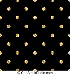 Polka dot small gold 1 black - Polka dots seamless pattern. ...