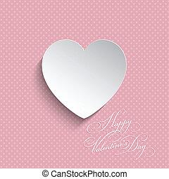 Polka dot Valentines heart background