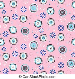 Polka dot vector background. Seamless vector pattern