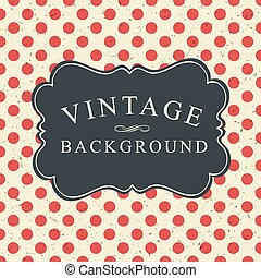 Polka Dot Vintage Card Template
