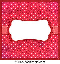 Polka dot vintage frame