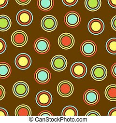 Polka Dots Background - Polka Dots pattern in bright colors...