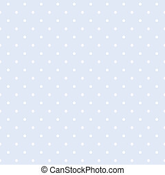 Polka dots blue vector background - Vector seamless pattern...