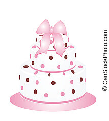 Polka Dots Cake - Beautiful cake with polka dots for any...