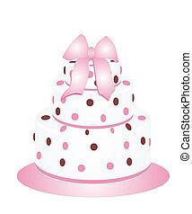 Polka Dots Cake - Beautiful cake with polka dots for any...
