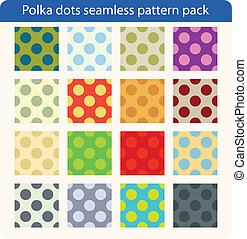 Polka dots vector pattern pack