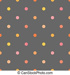 Polka dots colorful pattern