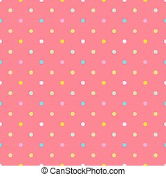 Polka dots colorful pink pattern.