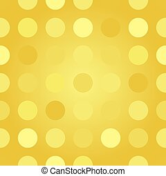 Polka dots gold pattern illustration