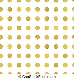 Polka dots gold pattern