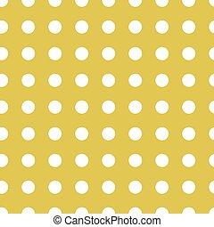 Polka dots gold seamless pattern
