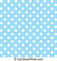 Seamless pattern of big white polka dots on a pastel aqua background for arts, crafts, fabrics, decorating, albums, scrapbooks. EPS includes pattern swatch that will seamlessly fill any shape.