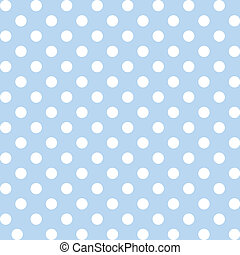 Seamless pattern of big white polka dots on a pastel blue background for arts, crafts, fabrics, decorating, albums, scrapbooks. EPS includes pattern swatch that will seamlessly fill any shape.