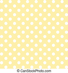 Seamless pattern of big white polka dots on a pastel yellow background for arts, crafts, fabrics, decorating, albums, scrapbooks. EPS includes pattern swatch that will seamlessly fill any shape.